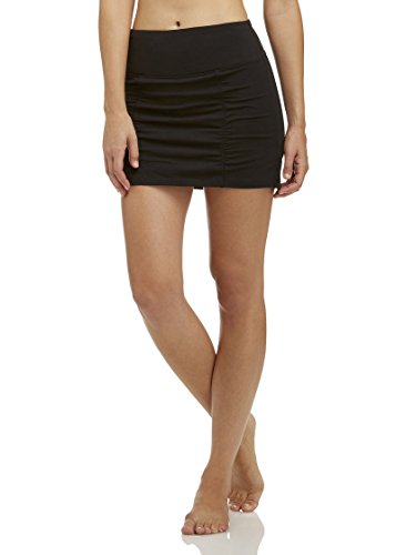 Marika Women's Mia Tummy Control Skort With Ruching Skirt, -black, Small