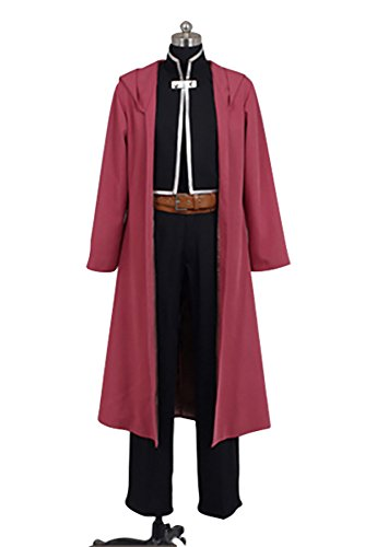 Ya-cos Fullmetal Alchemist Halloween Costume Edward Elric Cosplay Red Full Suit
