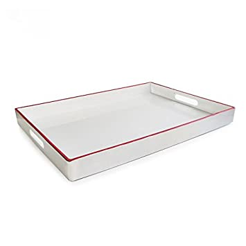 Accents by Jay Rectangular Tray with Handle, Teal 1270065