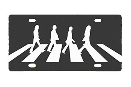 Personalized Metal License Plate Beatles Abbey Road Custom Auto Car Tag 12 inch X 6 (Abbey Plate)