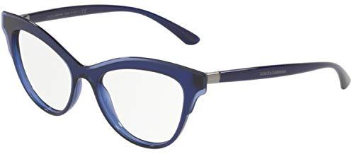 - Dolce Gabbana DG3313 Blue/Clear Lens Eyeglasses