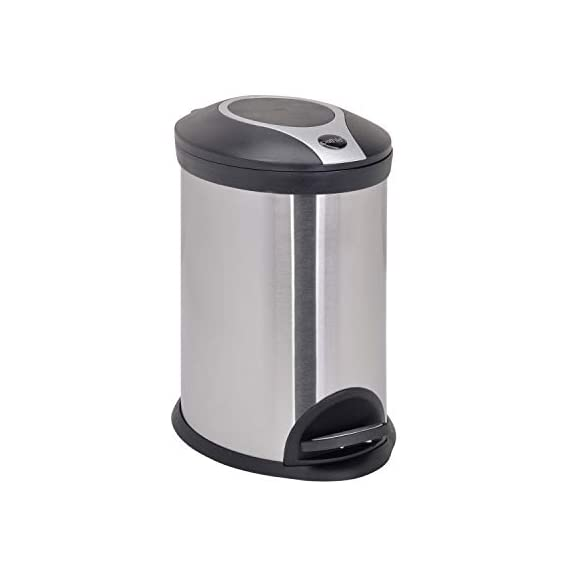 Bathla Contempo Stainless Steel Pedal Step Dustbin - Small (5 L) 1