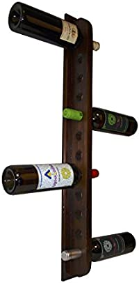 Expovinalia 250530 - Botellero de pared, madera, color nogal osc