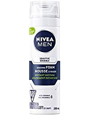 NIVEA Men Sensitive Skin Shaving Foam (200mL), Shaving Foam for Sensitive Skin, Allows for a Close Razor Shave and Leaves an Instant Soothing Sensation