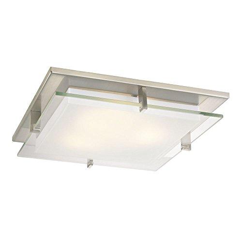 Trims Decorative Recessed Lighting - Modern Satin Nickel Square Decorative Recessed Lighting Ceiling Trim