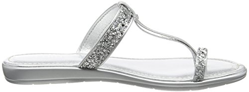 Lotus Candida, Sandalias con Tira a T para Mujer Silver (Silver/Glitter)