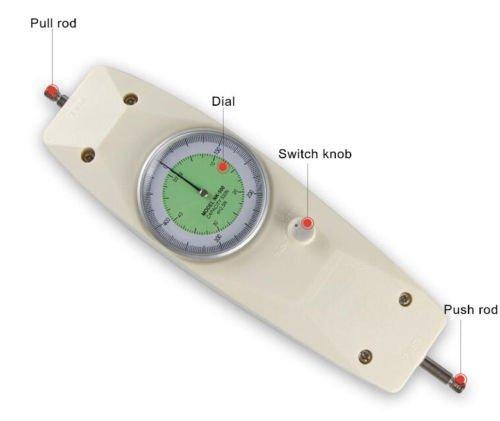 JIAN YA NA NK-50 50N Dial Mechanical Push Pull Gauge Force Gauge Meter Tester