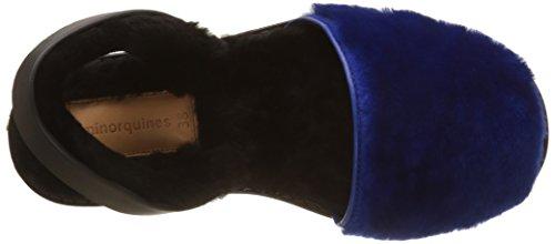 para Minorquines Mujer Azul Bleu Mouton Bleu Bleu Alaska Sandalias con Tobillo Correa Avarca de FFzwqrU