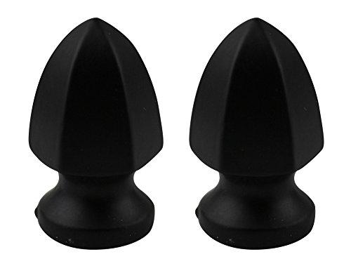 (Urbanest Set of 2 Parasol Lamp Finial, 1 5/16-inch Tall, Matte Black)