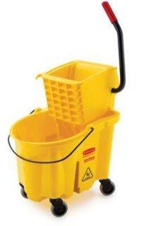 Rubbermaid FG748000YEL Mop Bucket & Ringer 26-Qt Ea by Rubbermaid