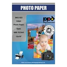 "13x19"" Inkjet Satin Photo Paper Premium 280G 68lb X 50 Sheets"