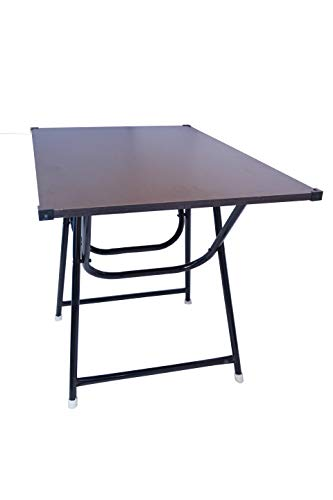 Indian Armar Presenting Large Size Portable Study Table Made with Engineered Wood in (Wenge Colour)