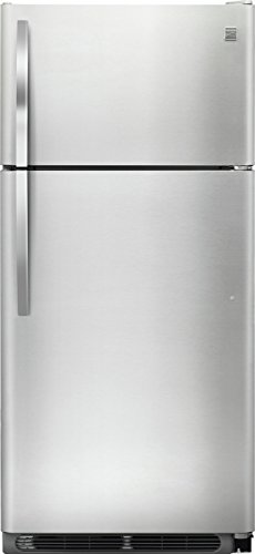 Kenmore 60505 18 Cu  Ft  Top Freezer Refrigerator With Glass Shelves In Stainless Steel  Includes Delivery And Hookup  Available In Select Cities Only