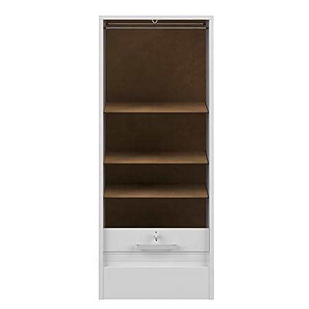 Symbiosis 7143A2121R91 - Archivador con puerta de persiana (106 cm, tablero de madera aglomerada), color blanco: Amazon.es: Hogar