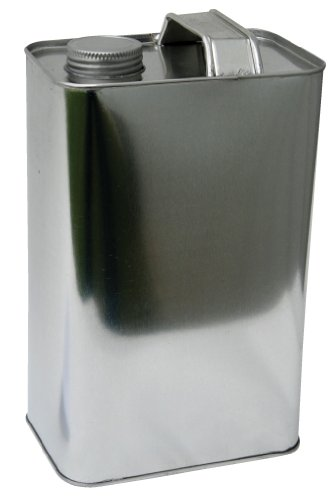 Vestil JUG-S-64 Tin-plated Steel Rectangular Jug with Metallic Cap, 3-3/8