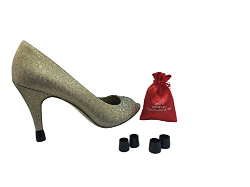 Scarlet Heel Tip LITE: Slip-On Heel Cap to Instantly Repair Shoe & Reduce Noise (XSmall XSmall, ()