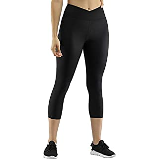 Hight Waist Compression Pants for Activewear Women's Buttery Soft Running Pants Scrunch Booty 7/8 Length Black M
