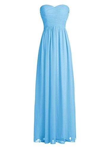 Dressystar Robe de demoiselle d'honneur/de soirée longue formelle Taille 58 Bleu