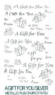 A Gift For You Silver E-Z Rub-On ()