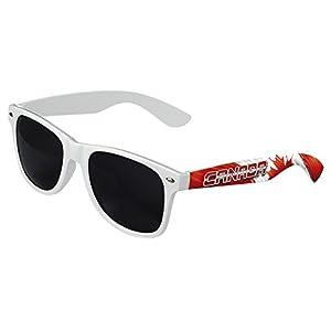 LogoLenses Men's Canada Country Flag Classic Sunglasses White