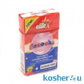 Bazooka Tutti Frutti Flavored Bubble Gum - Sugar (Elite Sugar Free Chewing Gum)