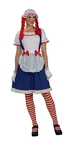 Forum Rag Doll Costume, Blue/Red, One Size