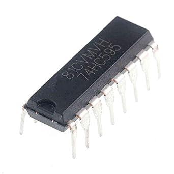 Amazon.com: (Pack of 25 Pieces) MCIGICM 74HC595 74595 SN74HC595N 8-Bit  Shift Register DIP-16 IC 74hc595 Shift registers: Industrial & Scientific