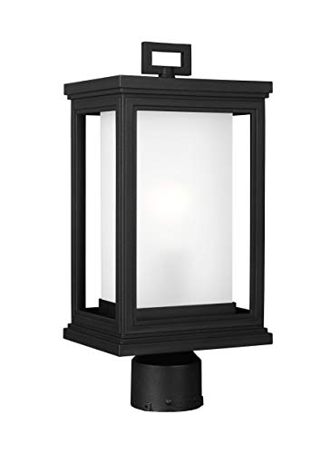 (Feiss OL12907TXB Roscoe StoneStrong StoneStrong Coastal Outdoor Post Lighting, Black, 1-Light (8