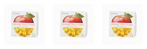(3 PACK) - Clearspring Apple & Mango Fruit Puree| 100 x 2 gx |3 PACK - SUPER SAVER - SAVE MONEY by