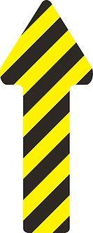 5x2.5, Black 5S Location Marking Arrow Rounded Corners Various Sizes Available Pack of 25 Durable Arrow Shaped Floor Marker by Graphical Warehouse- Vibrant Colors