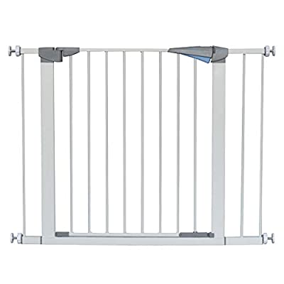 LEMKA Walk Thru Baby Gate,Auto Close Safety Pet Gate Metal Expandable Dog Gate with Pressure Mount for Stairs,Doorways and Banister