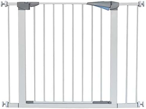 LEMKA Walk Thru Gate,Auto-Close Safety Gate Metal Expandable Pet Gate Includes 2.8
