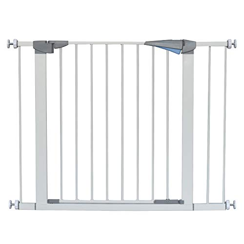 LEMKA Walk Thru Gate,Auto-Close Safety Gate Metal Expandable Pet Gate Includes 2.8