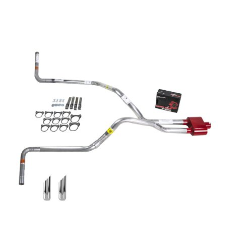 Truck Exhaust Kits - DIY dual exhaust system 2.25 pipe Cherry Bomb (Side Exit Exhaust Kit)