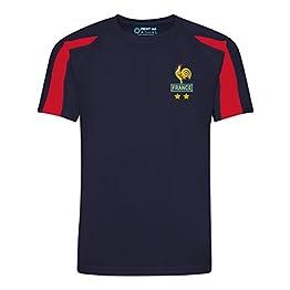 Printmeashirt Maillot de Football Personnalisable pour Enfants France Les Bleus Domicile