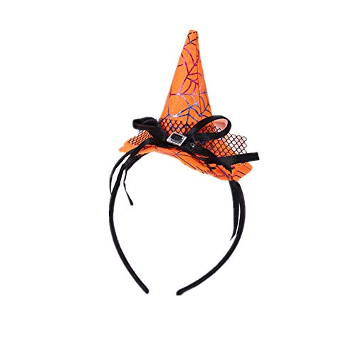 2 Pieces Headband Pumpkin Caps For Halloween Party Costume Accessory Different Style (NO.2) -