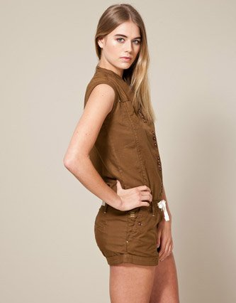 ee35f789e8 G-Star Safari Playsuit - Brown - Womens - XX-Large  Amazon.co.uk  Clothing