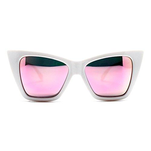 Quay x Shay Vesper Sunglasses Cat Eye Plastic Frame - Sunglasses White Quay