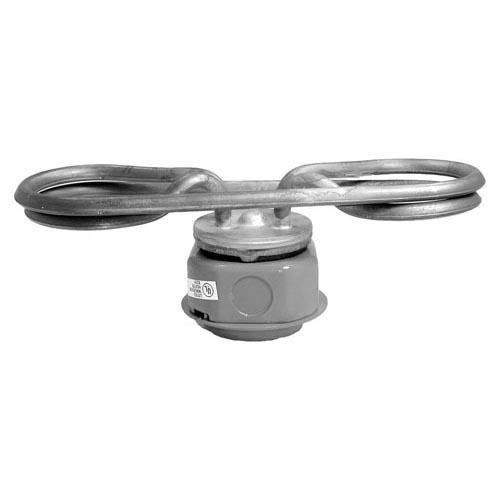 Chromalox 272460 Food Equipment Water Immersion Heater, TTUH-40A 1 Phase w/o Cutout - 2'' Min. Liquid Depth, 9-1/2'' x 4'' x 4-9/16'', 208V, 4kW by Chromalox