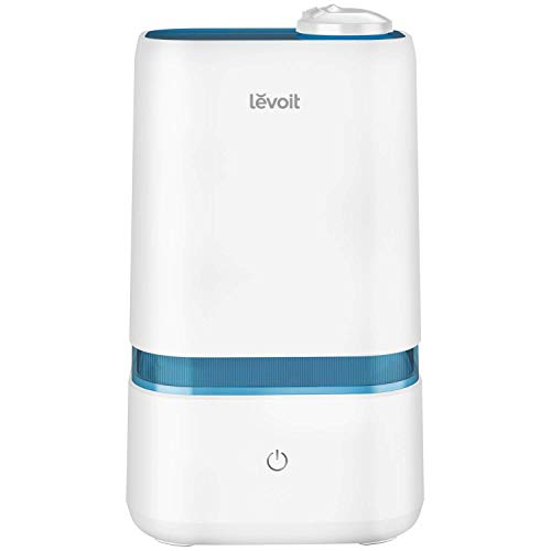 LEVOIT 4L Cool Mist Humidifier for Bedroom Babies,BPA Free,Quiet Ultrasonic Air Humidifier,Essential Oil Compatible,3.8 in Wide Opening, 1 m High Output,360°Dual Nozzle,Lasts Up to 40 h,3 Mist Levels