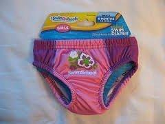 Aqua Leisure Swim School Girls Reusable Swim Diaper 6 months 13-18 lbs