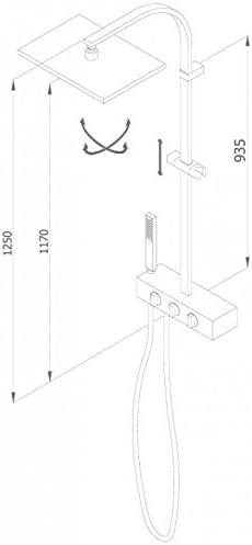 Grb kala - Columna termostatica fija ducha xs cromo: Amazon.es ...