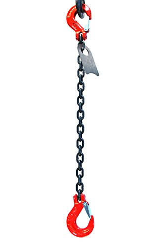 Chain Sling - 5/16'' x 5' Single Leg with Sling Hooks - Grade 80