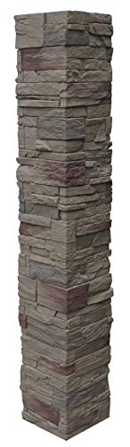 (NextStone Country Ledgestone 2pc Split Faux Stone Post Cover - 8