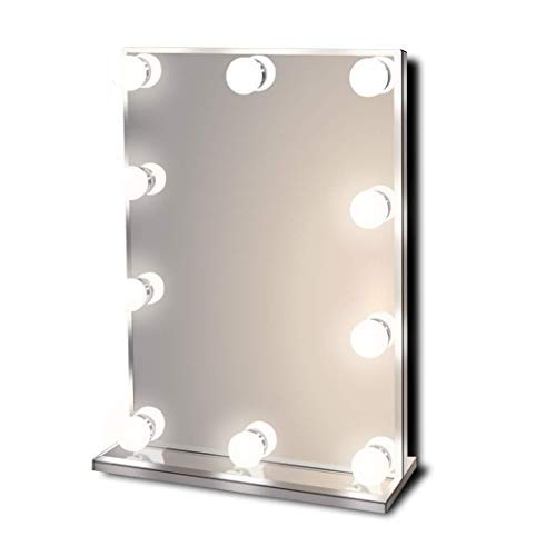 Waneway Hollywood Lighted Vanity Makeup Mirror with Bright LED Lights, Light-up Frameless Dressing Table Cosmetic Mirror with Dimmable Bulbs, Multiple Color Modes - Makeup Artist Mirror