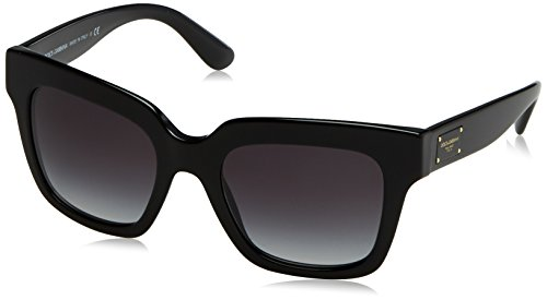 Dolce & Gabbana Women's Acetate Woman Square Sunglasses, Black, 51 - And Sunglasses Gabbana Black Dolce