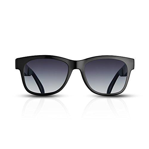 VOCALSKULL Gafas De Sol Grises De Conducción ósea Marco Negro Auriculares Deportivos Inalámbricos Bluetooth con Altavoz…
