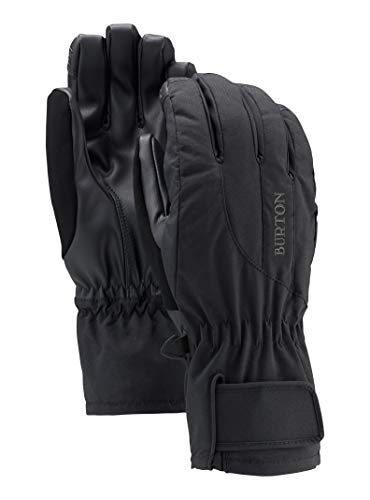 Burton Women's Insulated, Warm, and Waterproof Profile Under Gloves with Touchscreen, True Black, Medium