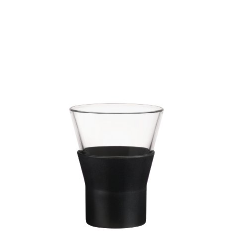 Bormioli Rocco Ypsilon Brio Cappuccino Glasses, Black, Set of 6 ()