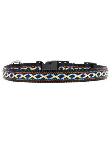 "Kakadu Pet Cheyenne Dog or Cat Collar, Small, 1/2"" x 16"", Black"